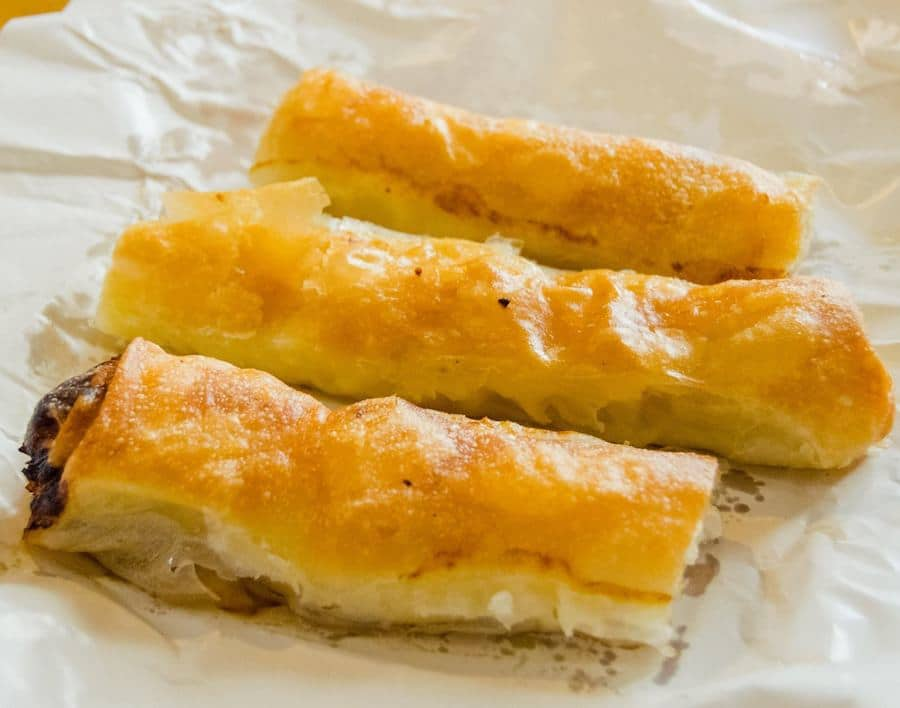 Burek from one of the most places to get burek in Belgrade, Serbia: Бурегџиница Сарајево. #travel #balkans #food