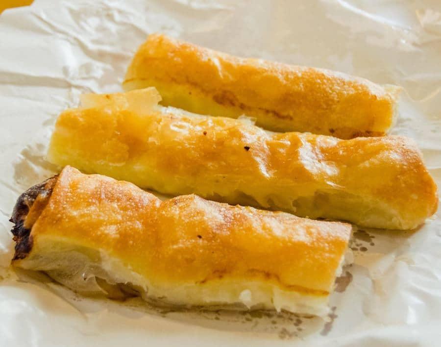 Burek from one of the most places to get burek in Belgrade, Serbia: Бурегџиница Сарајево. #travel #balkans #food