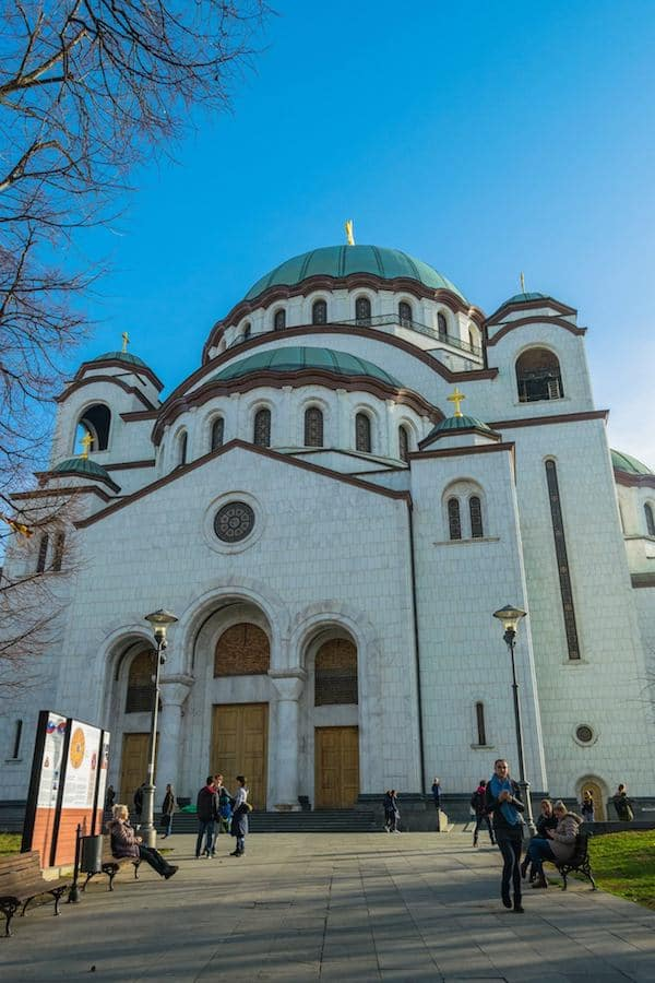 Cathedral of Saint Sava, one of the largest orthodox churches in the world. This church in Belgrade is one of the best things to do in Belgrade, Serbia.
