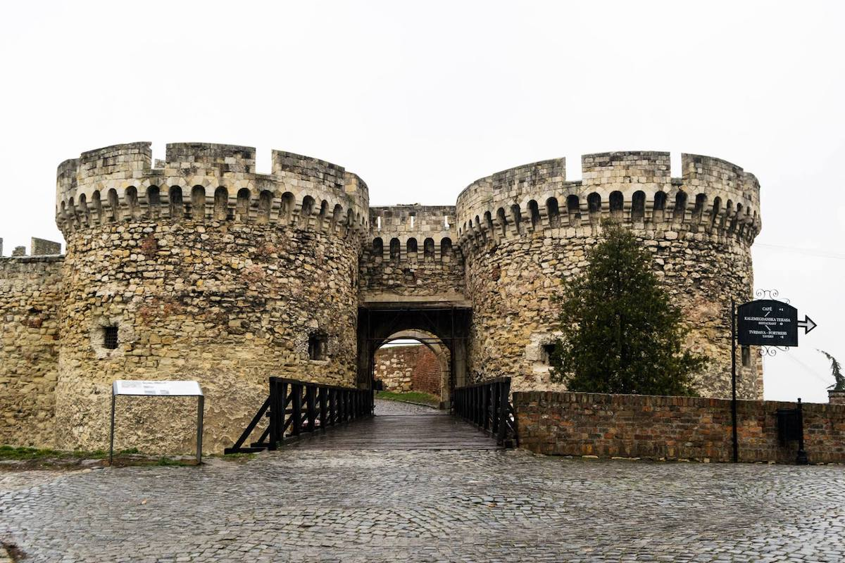 Belgrade Fortress, one of the best things to see in Belgrade.  This historic landmark dates back to the founding of Belgrade itself!
