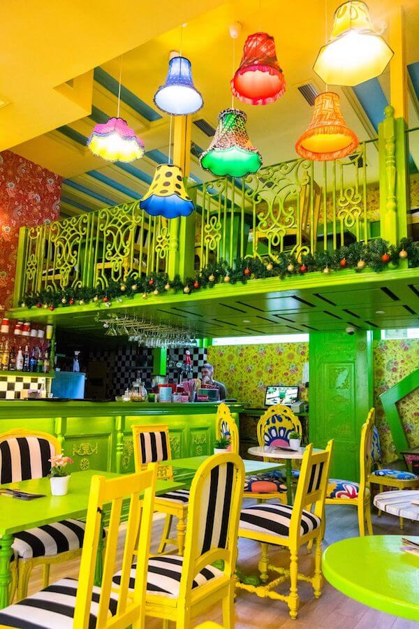 Interior of Besna Mačka, one of the most unique cafes in Belgrade with a crazy interior! #travel #belgrade