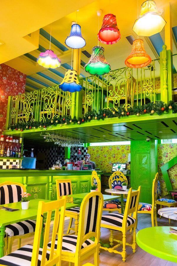 Interior of Besna Mačka, one of the most unique cafes in Belgrade with a crazy interior! #travel #belgrade