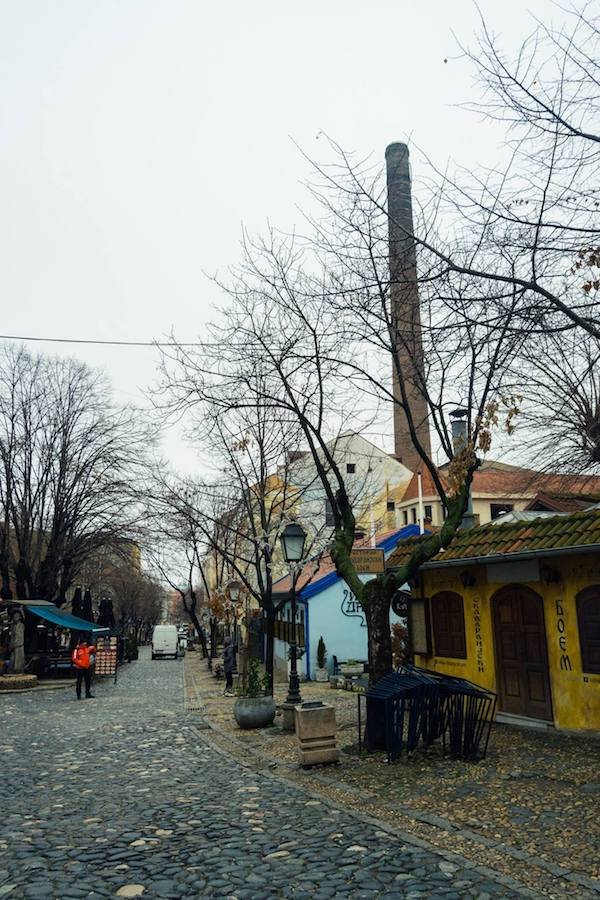 View of the cobblestoned street of Skadarlija, something that must be on your Belgrade itinerary! #travel #serbia #belgrade