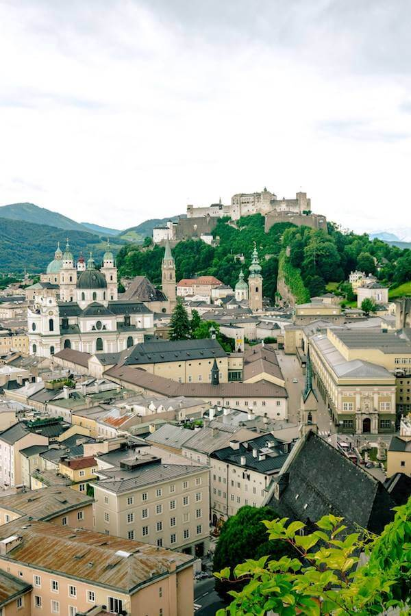 Beautiful view from the Museum der Moderne Salzburg. This secret viewpoint in Salzburg needs to be on your list of things to do in Salzburg, Austria! #austria #salzburg