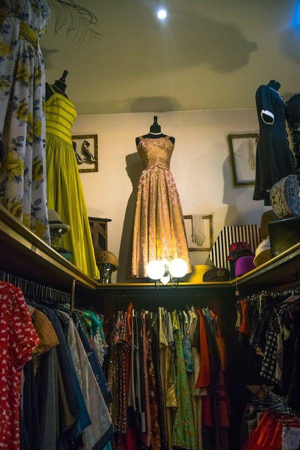Beautiful vintage dresses at the Real McCoy, one of the best vintage shops in Exeter, United Kingdom! #vintage #vintagedresses