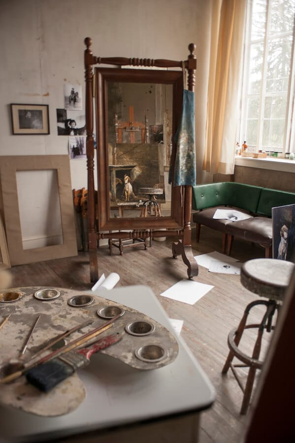 The painting studio of Andrew Wyeth, a member of the Brandywine School of painting, in the Brandywine region of Pennsylvania. Photo courtesy of the Brandywine Museum of Art / Carlos Alejandro #art #painting