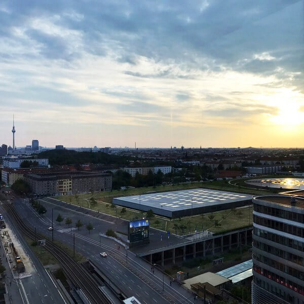 View from Andel's Hotel, one of the best viewpoints in Berlin. #travel #berlin #germany