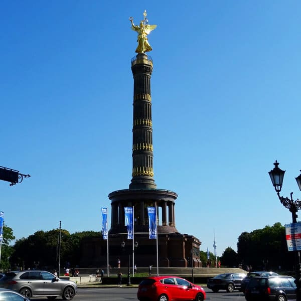 View from Victory Column, one of the best places to take photos in Berlin. #travel #berlin #germany