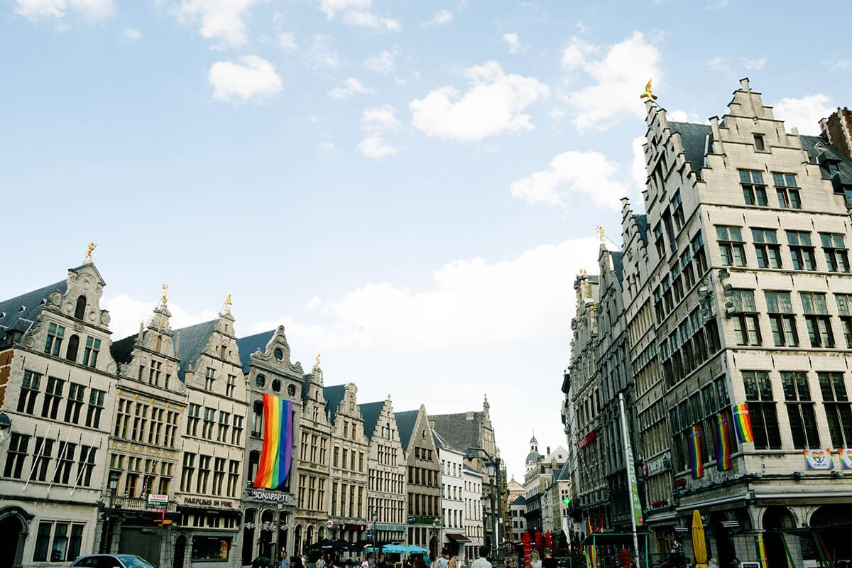 Beautiful view of Grote Markt, one of the best things to do in Antwerp, Belgium.