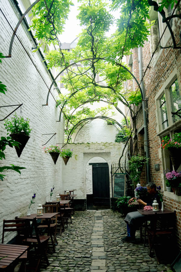 Vlaaikensgang, one of the hidden secrets of Antwerp, Belgium. Finding this secret street is one of the best things to do in Antwerp! #travel #belgium #antwerp #antwerpen