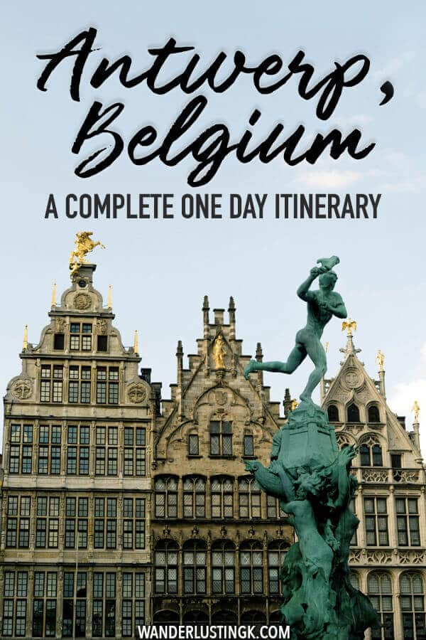 Visiting Antwerp, Belgium? A complete one day itinerary for Antwerp, including the best things to do in Antwerp and where to eat in Antwerp. #travel #belgium #antwerp #antwerpen #belie