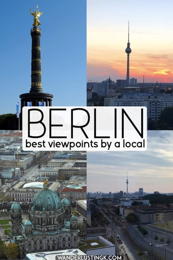 Looking for the best photo spots with views in Berlin? The six of the best viewpoints in Berlin written by a local. #berlin #europe #travel #germany