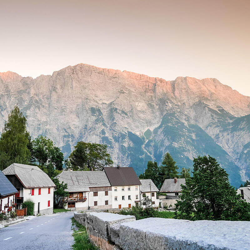 Strmec na Predelu, a beautiful Slovenian village near Mangrt, Slovenia. #isLOVEnia #Slovenia #Travel #Europe #Mountains