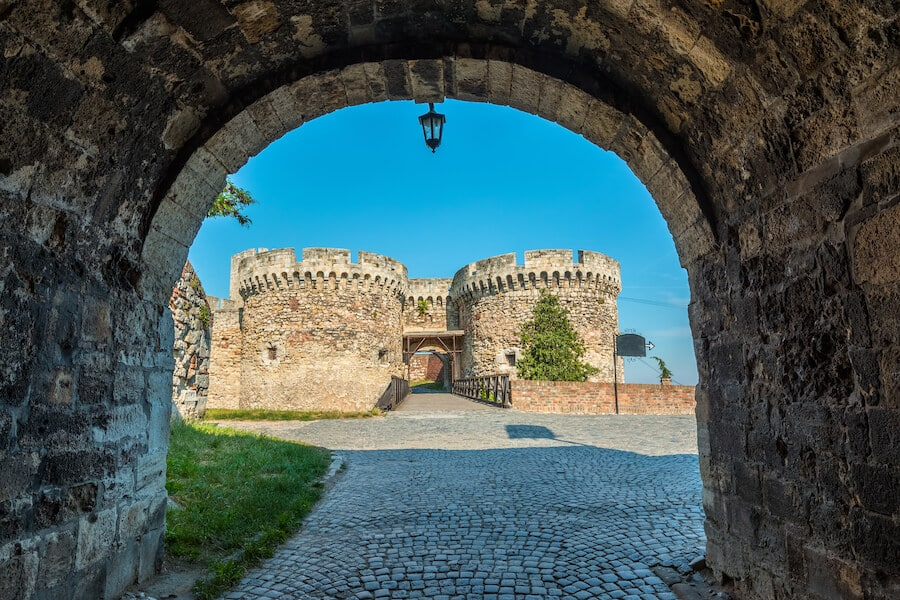 View of Belgrade Fortress, one of the best things to do in Belgrade, serbia.