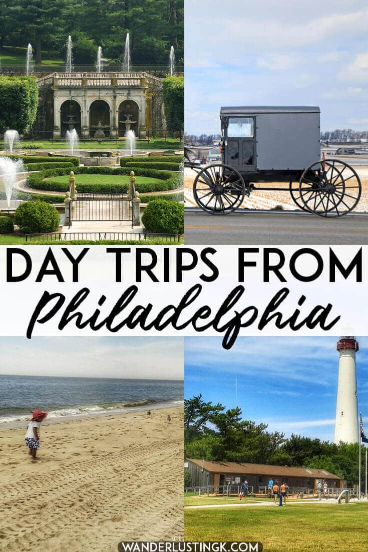 Looking for the day trips from Philadelphia, Pennsylvania? Read about the best day trips in Pennsylvania, Maryland, and New Jersey only a short hop from Philly! #travel #philly #pennsylvania #PA