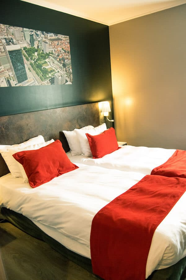 Bed at Martin's Brussels EU, an affordable hotel in Brussels. #travel #brussels