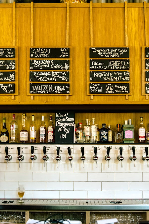 Craft beer on tap at a cafe in Utrecht, the Netherlands. #craftbeer #Beer