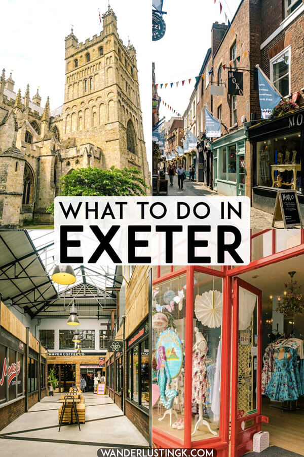 Looking for what to do in Exeter, Devon? A guide to shopping in Exeter and Harry Potter related things in Exeter, J.K. Rowling's university home! #devon #UK #travel #exeter