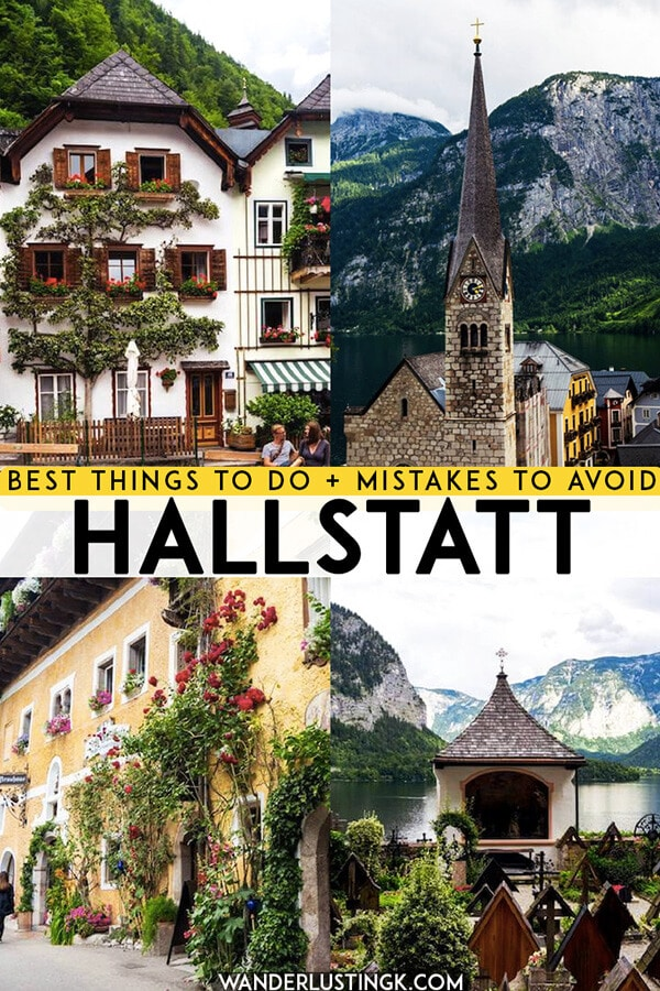 Looking for the best things to do in Hallstatt, Austria? Your complete guide to visiting Austria's most beautiful village and what not to do at Hallstatt! #travel #hallstatt #austria #europe
