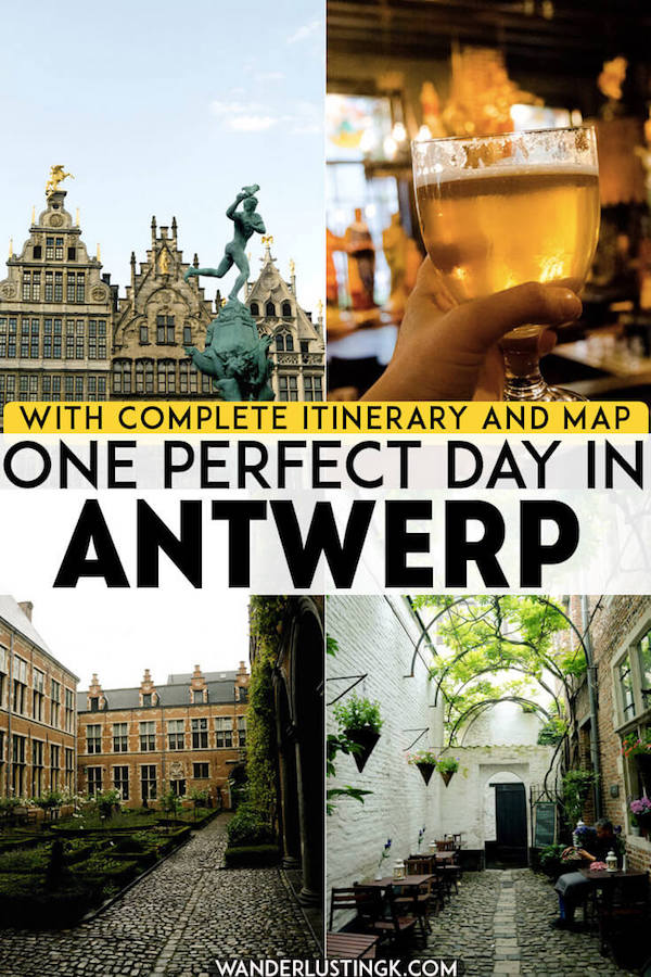 Planning to visit Antwerp, Belgium? Your perfect day trip guide to Antwerp, one of Belgium's loveliest cities, including a complete itinerary and a self-guided walking tour covering the best things to do in Antwerp. #travel #antwerp #antwerpen #belgium #België