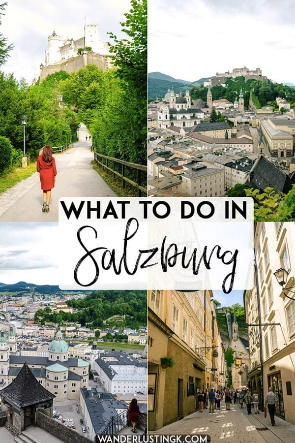 Visiting Salzburg Austria? Read about the best things to do in Salzburg, including the best free viewpoints in Salzburg. Includes a complete itinerary with food recommendations! #salzburg #austria #europe #travel