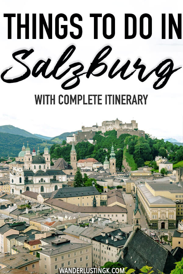 Planning your trip to Salzburg, Austria? Things to do in Salzburg with a complete itinerary for a perfect day in Salzburg, Austria. #austria #salzburg