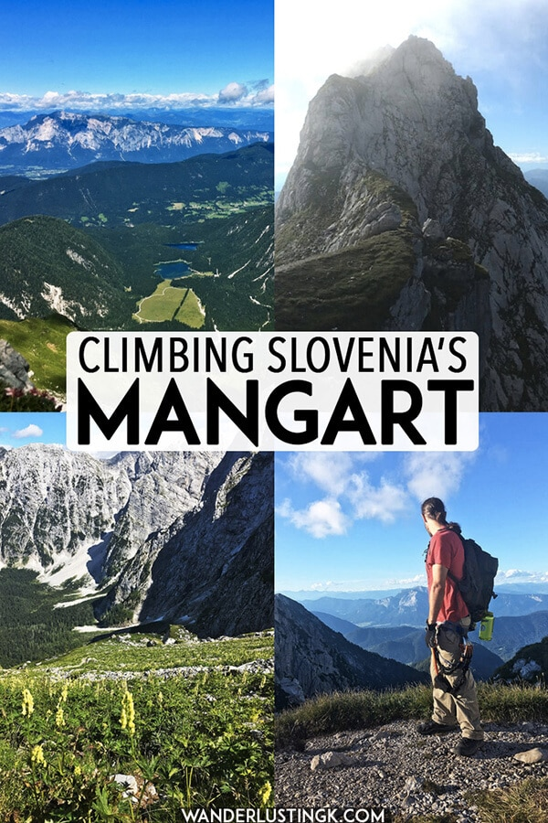 Your adventure travel guide to Mangart, Slovenia's tallest mountain, including what you need to know about hiking and climbing Mangart using via ferrata (klettersteig). #travel #adventuretravel #slovenia #climbing