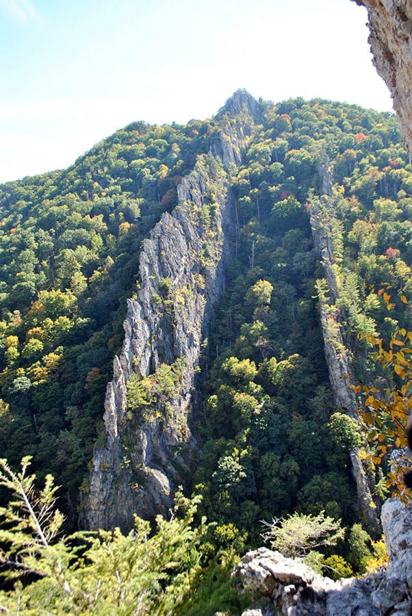 Beautiful views of the Nelson Rocks, West Virginia.  This place is a mecca for climbers! #climbing