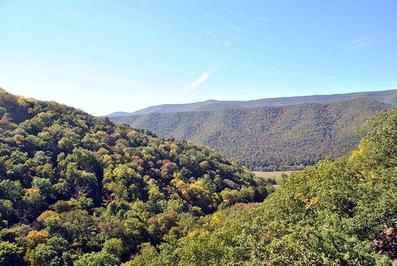 Mountain views from the Nelson Rocks via ferrata (NRocks) in West Virginia.