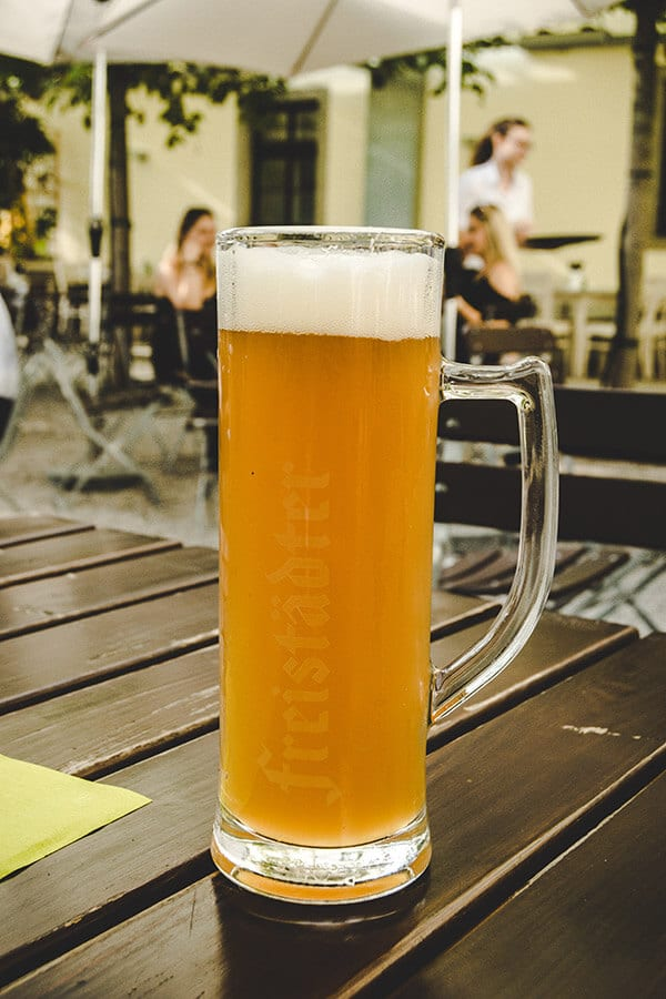 Freistädter Bier, one of the reasons to visit Freistadt. This brewery owned by the town produces 100% Austrian beer. #travel #austria #beer