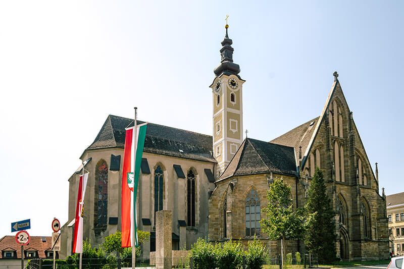 Stadtpfarrkirche St. Marien, one of the main attractions of Enns, Austria.