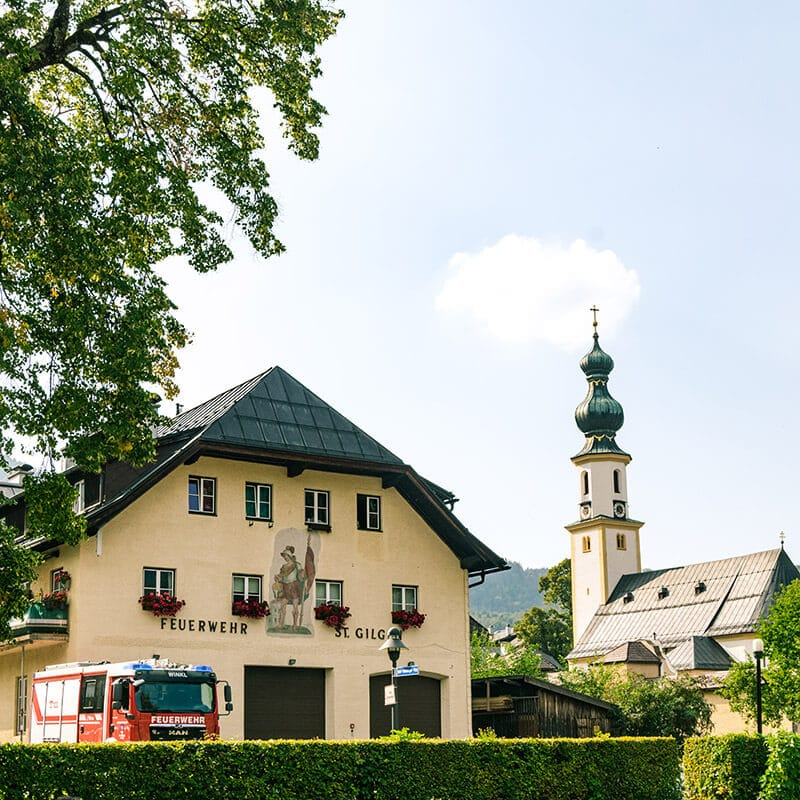 The beautiful fire department of St. Gilgen, Austria.