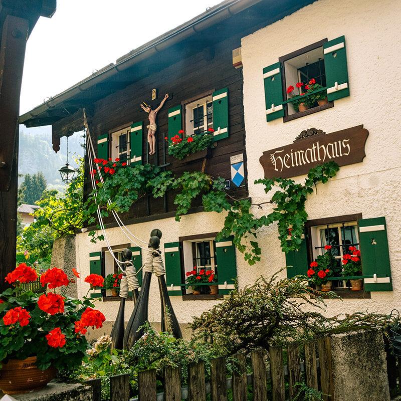 The Heimathaus, a museum in St. Gilgen, Austria.
