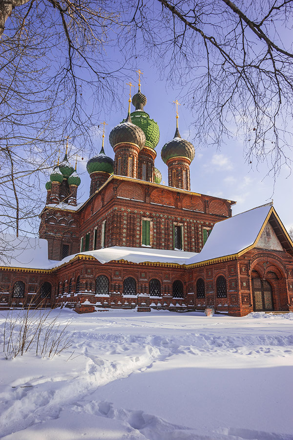 Beautiful Russian cathedral in Yaroslavl. If you're visiting Russia for the first time, you must get a chance to explore outside of Moscow!