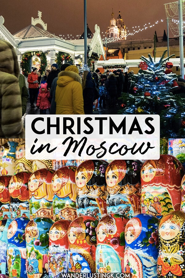 Dreaming of a Russian Christmas? Read about celebrating Christmas in Moscow, Russia with tips for visiting the stunning Red Square Christmas Market! #travel #christmas #moscow #russia
