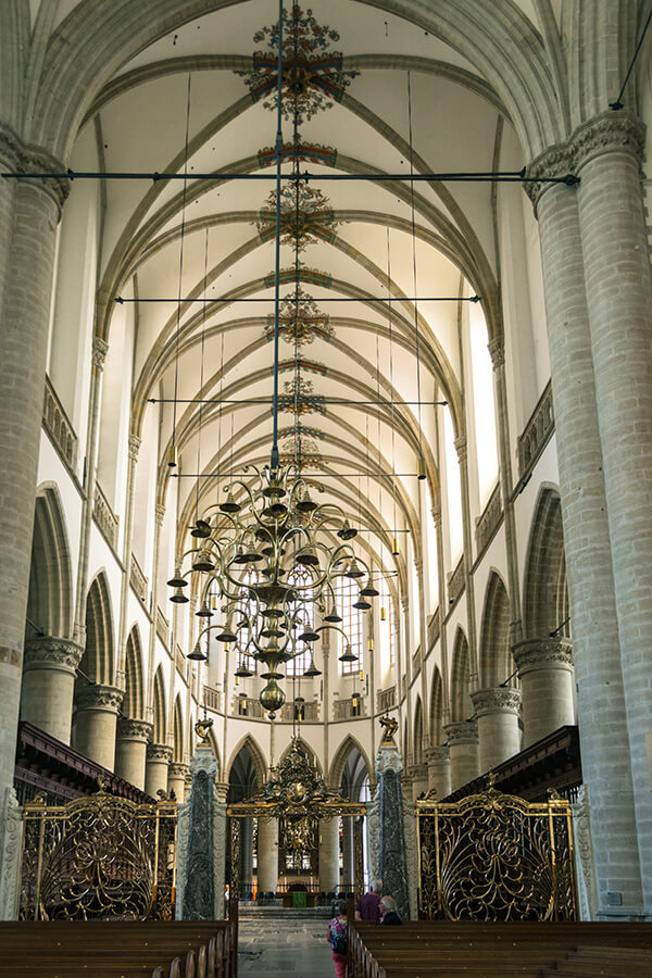 Beautiful interior of Grote of Onze-Lieve-Vrouwekerk, a beautiful medieval church in Dordrecht, Holland. #kerk #nederland #holland #netherlands