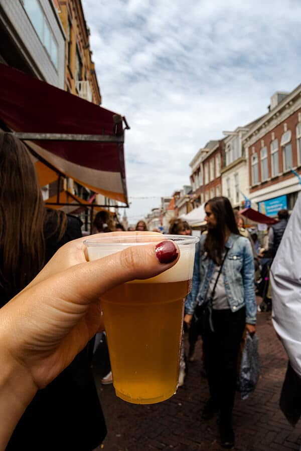 Scheveningen beer, one of the best local breweries in the Hague at a festival in the iconic village of Scheveningen, the Netherlands. #travel #beer