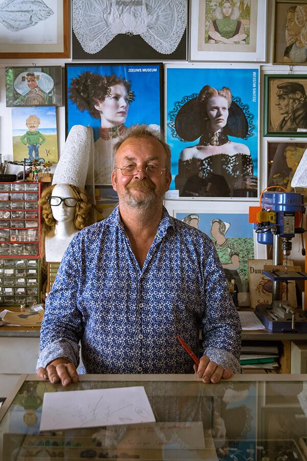 Bert Van Wijk, a jeweler in Middelburg.  If you visit Zeeland's capital, you must step into his unique shop! #travel #middelburg #portraits