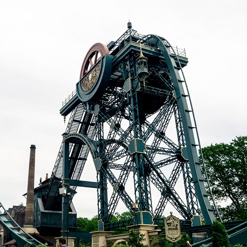 Baron 1898, one of the roller coasters for adults at Efteling amusement park in the Netherlands. #travel