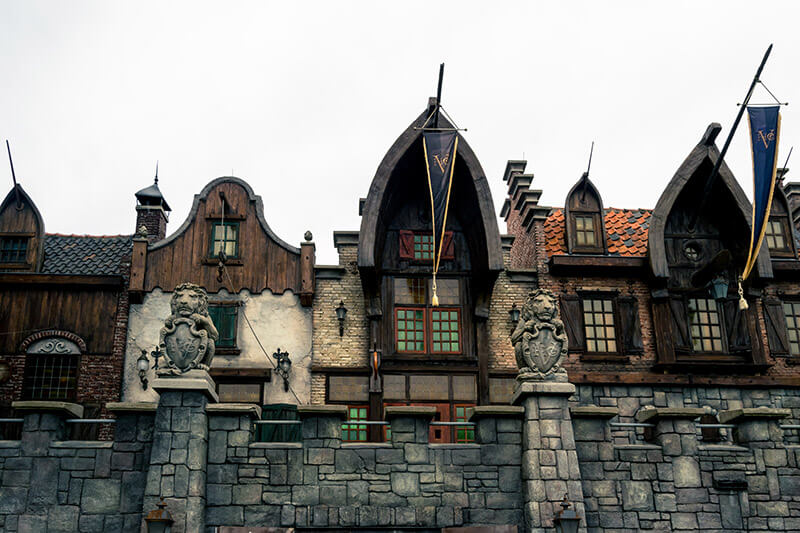 Beautiful exterior of the Vliegende Hollander ride at Efteling Theme Park, a unique Dutch theme park that can be visited from Amsterdam.