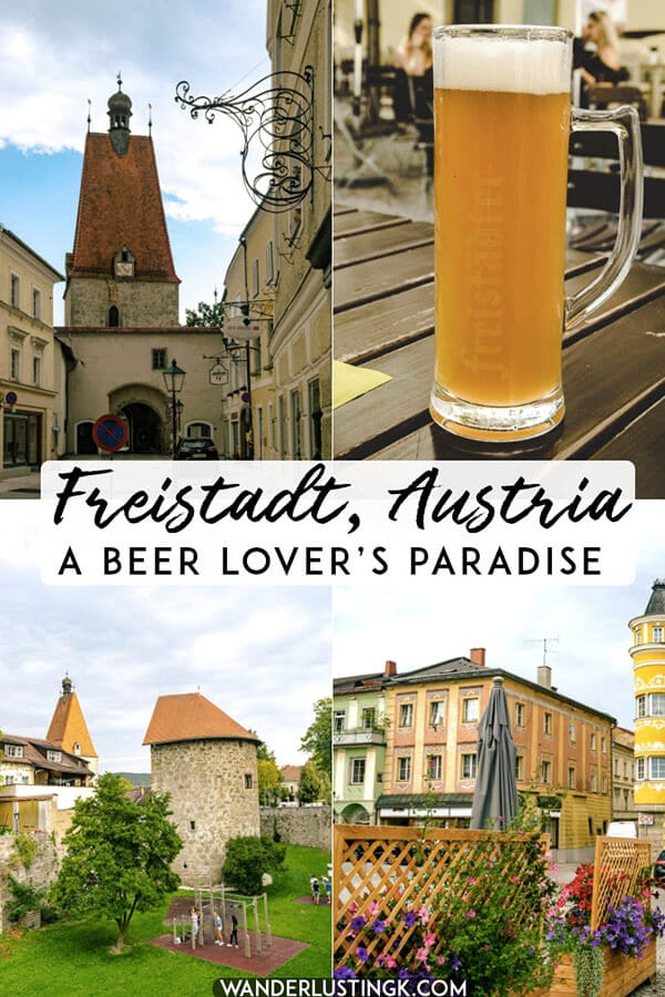 Planning your trip to Upper Austria? History and craft beer lovers must stop at Freistadt, Austria.  This historic Austrian city is perfect for a relaxing day trip from Linz. #travel #austria #Österreich #craftbeer