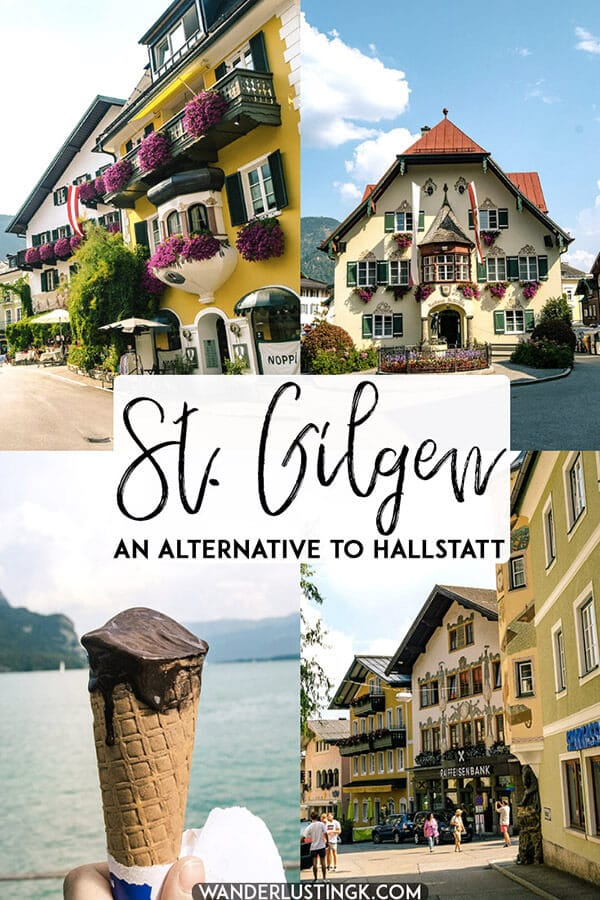 Looking for a cute town in Austria to visit? This stunning day trip from Salzburg is the perfect alternative to Hallstatt, Austria.  Read about St. Gilgen, a beautiful lakeside town in Austria... #travel #austria #salzburg