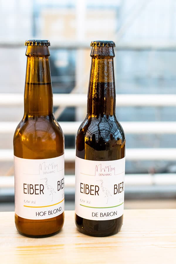 Bottles of Eiber Beer, a microbrewery from the Hague.  This microbrewery produces great craft beer in the hague. #travel #beer