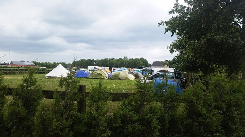 Camping tents in Dessel, Belgium. Read where to stay for Graspop Metal Meeting on a budget.