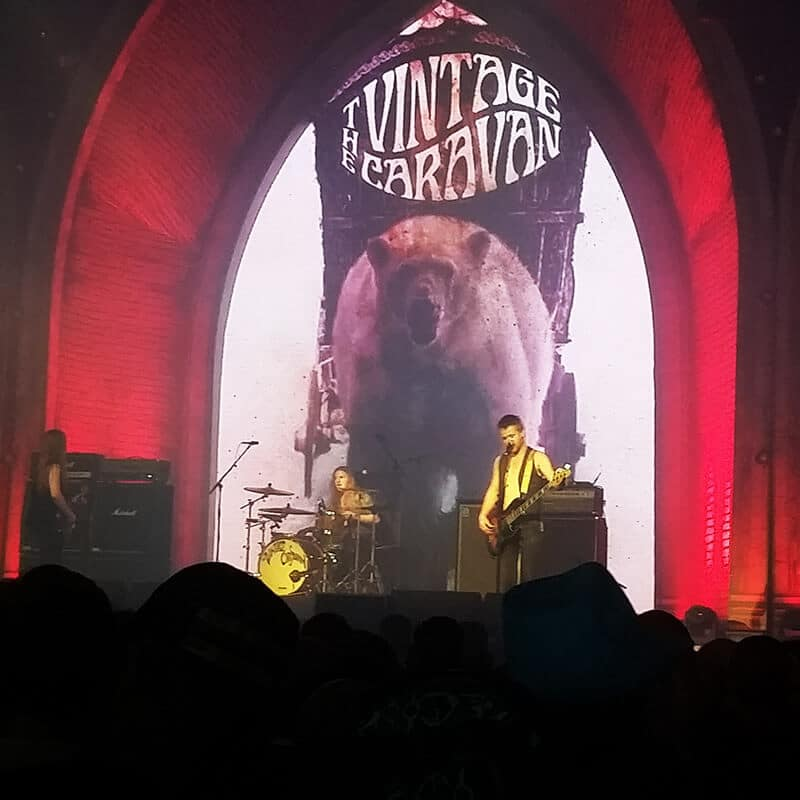 The Vintage Caravan performing at Graspop Metal Meeting in Dessel, Belgium.