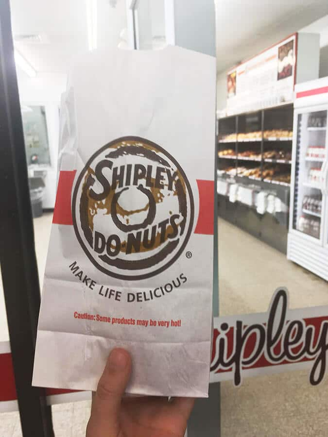 Delicious donuts from Shipley's Do-nuts in Houston, Texas. You need to try this delicious dessert in Houston! #travel #food #texas #houston