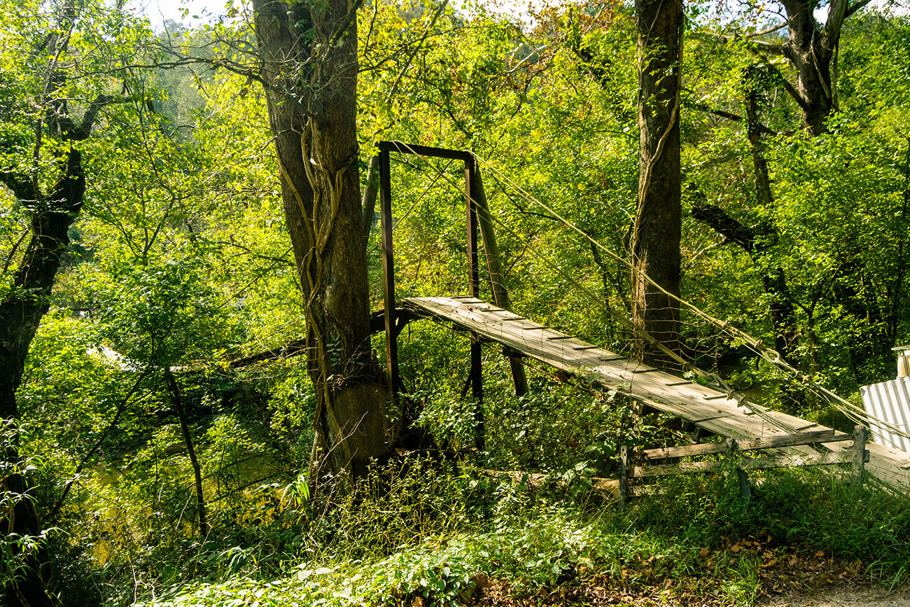 A swinging bridge in Perry County, Eastern Kentucky.