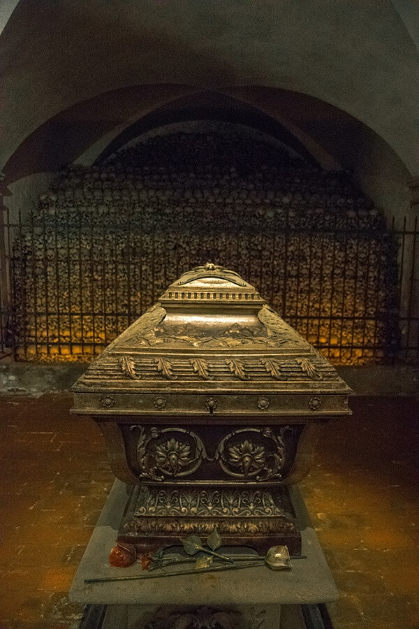 Anton Bruckner's grave in the ossuary of St. Florian Monastery, underneath his famous organ. #composers #music