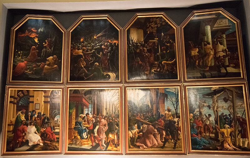 Beautiful panel by Albrecht Altdorfer within the Altdorfer Gallery at Stift. St. Florian in Austria.