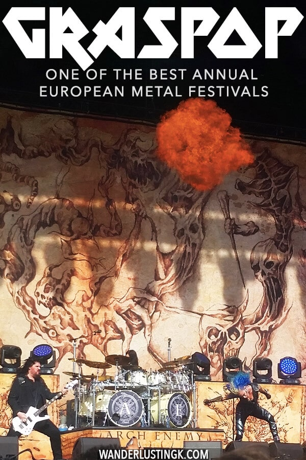 Planning which metal festivals to attend? Be sure to head to the Graspop Metal Meeting in Belgium! This famous Belgian metal festival is worth attending! #metal #metalfestival #belgium